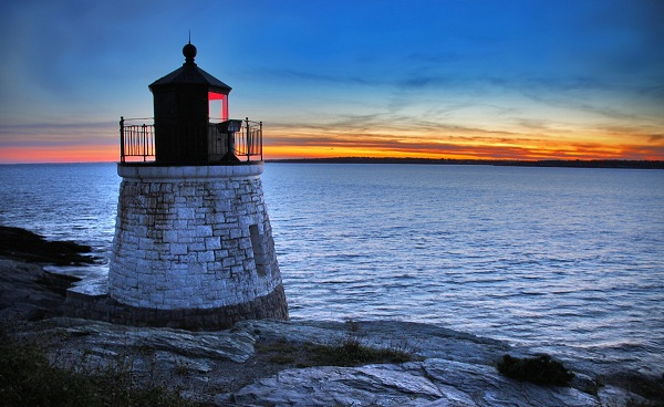 BESTE-NEUENGLANDS Neuengland Castle Hill Lighthouse in Newport Rhode Island 38242051