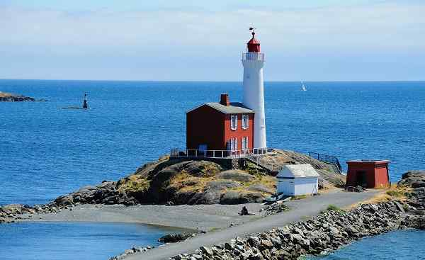 CAD-RM-TGC Kanada Victoria fisgard lighthouse at seashore  it is the first lighthouse built in vancouver island in 1860