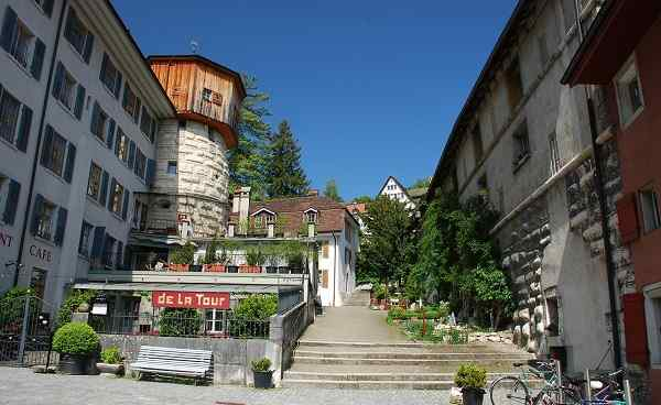 CH-AARE-ROUTE The peaceful square in old Biel   Bienne city 55032154