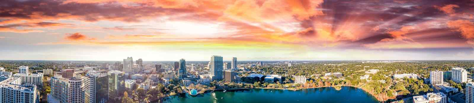 DIX-SWING  Panoramic aerial view of Lake Eola and surrounding buildings  Orlando 736272670