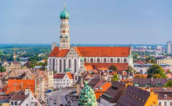 FUGGER-AUG-RO Augsburg  Germany skyline with cathedrals