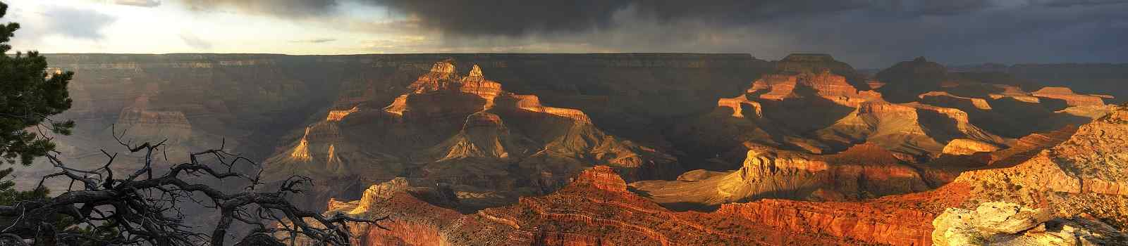 HOHE-PUNKT-WESTEN  GrandCanyon at  sunset-south rim view