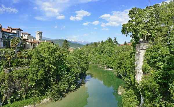 IT-ALPE teaser Natisone River in the medieval town Cividale del Friuli 194042816