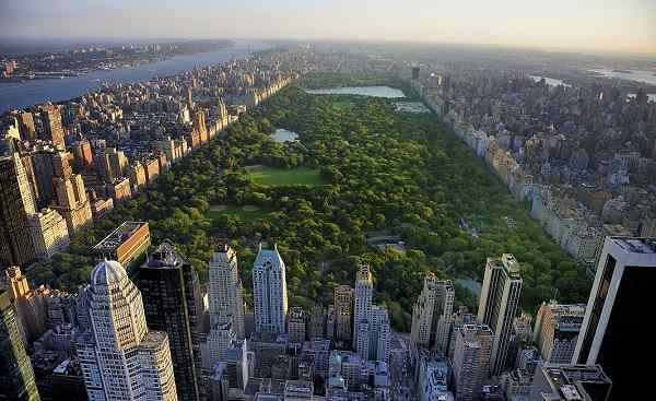 NEW-YORK-JETS New York City Central Park aerial view 155390825