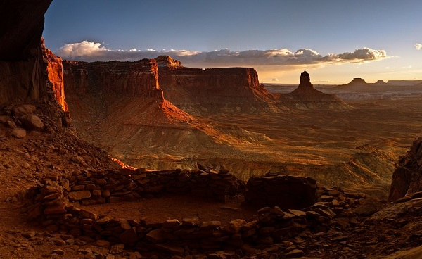PANORAMA-SUD-WEST USA NP Canyonlands False Kiva Panorama 65676271