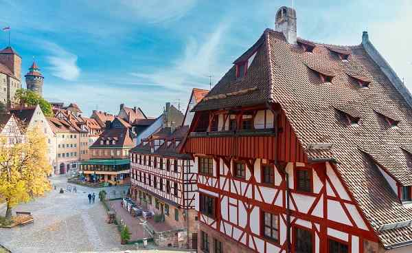 RAD-BAYERN Old town of Nuremberg at sunny fall day  Germany shutterstock 530932411