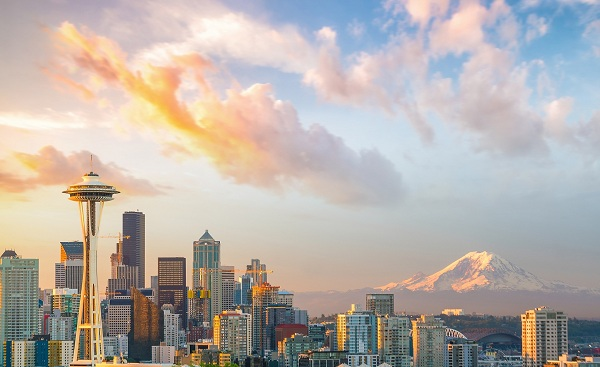 SEATTLE-SEA View of downtown Seattle skyline in Seattle Washington  USA shutterstock 635415140
