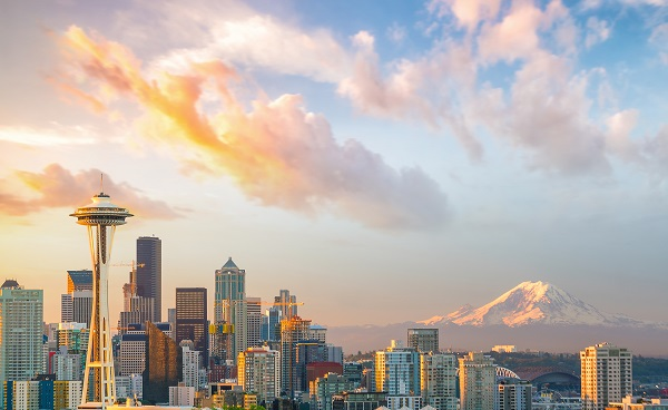 View of downtown Seattle skyline in Seattle Washington  USA shutterstock 635415140